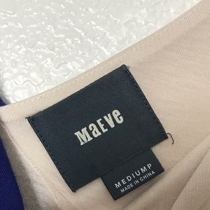 Anthropologie Dresses - Anthro Maeve Black Color block Maxi Dress Size MP